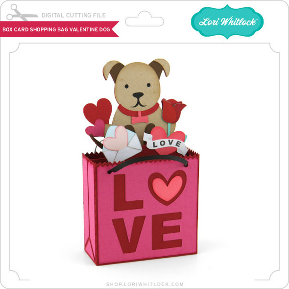 Box Card Shopping Bag Valentine Dog
