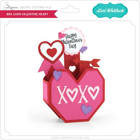 Box Card Valentine Heart