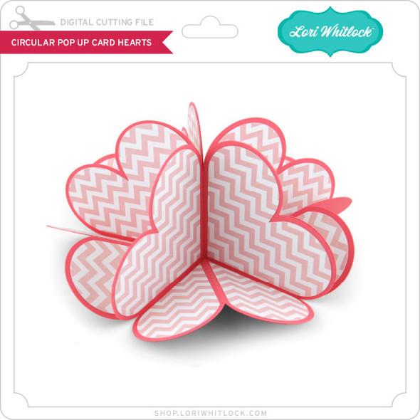Circular Pop Up Card Hearts