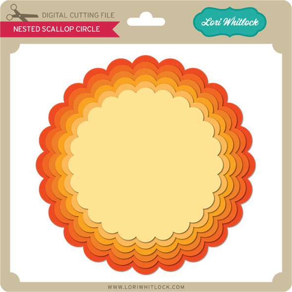 Nested Scalloped Circle