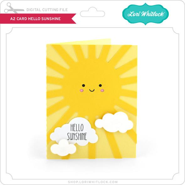 A2 Card Hello Sunshine