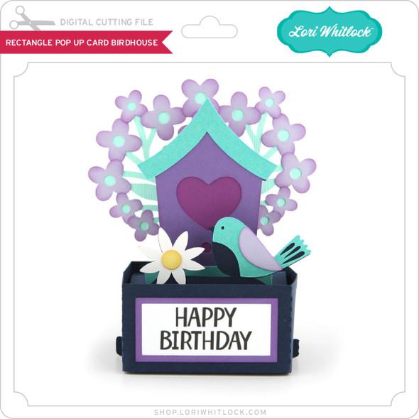 Rectangle Pop Up Card Birdhouse