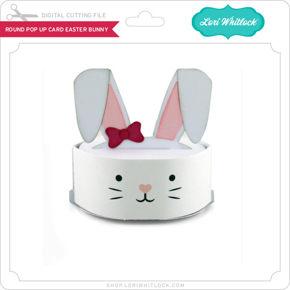 Round Pop Up Card Easter Bunny