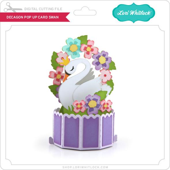 Decagon Pop Up Card Swan