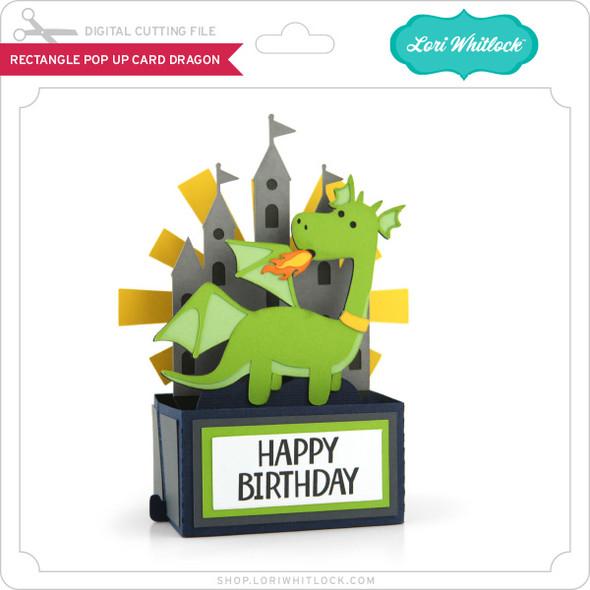 Rectangle Pop Up Card Dragon