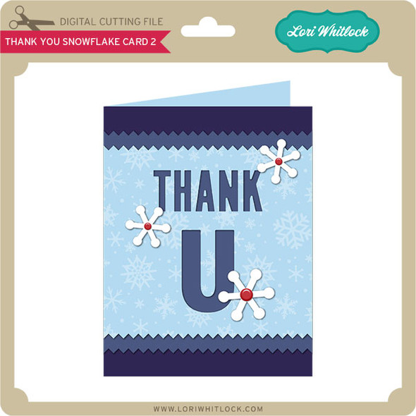 Thank You Snowflake Card 2