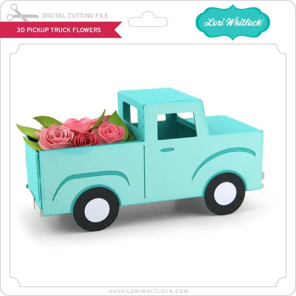 3D Pickup Truck Flowers