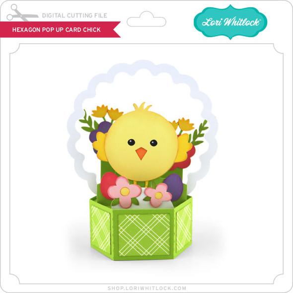 Hexagon Pop Up Card Chick