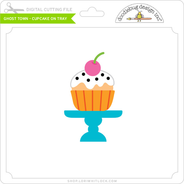 Ghost Town - Cupcake on Tray