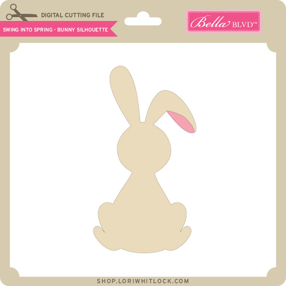 Swing into Spring - Bunny Silhouette