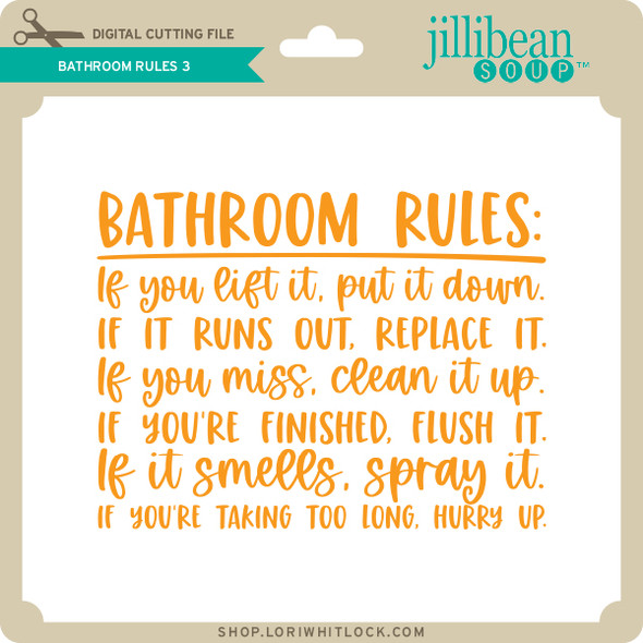 Bathroom Rules 3
