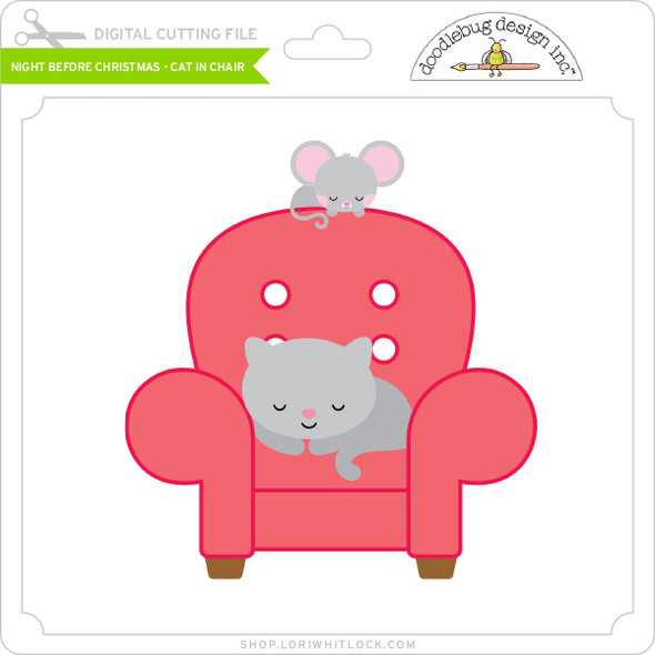 Night Before Christmas - Cat in Chair