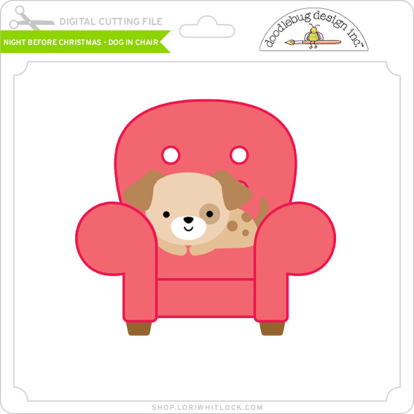 Night Before Christmas - Dog in Chair