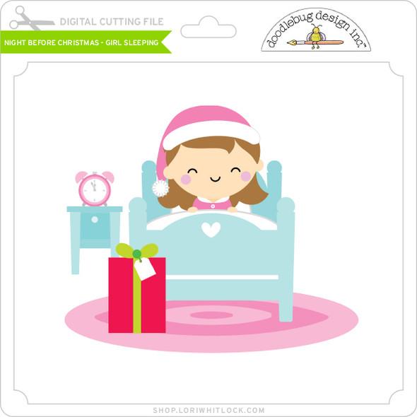 Night Before Christmas - Girl Sleeping