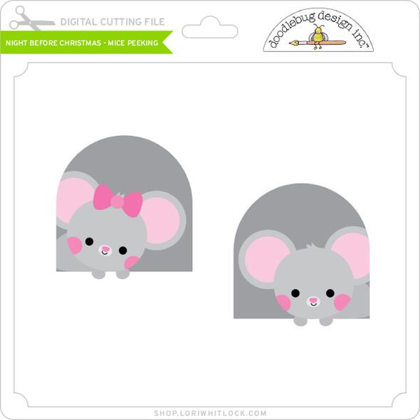 Night Before Christmas - Mice Peeking