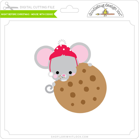 Night Before Christmas - Mouse with Cookie