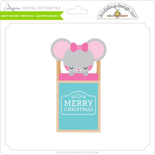 Night Before Christmas - Sleeping Mouse 2