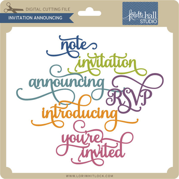 Invitation Announcing