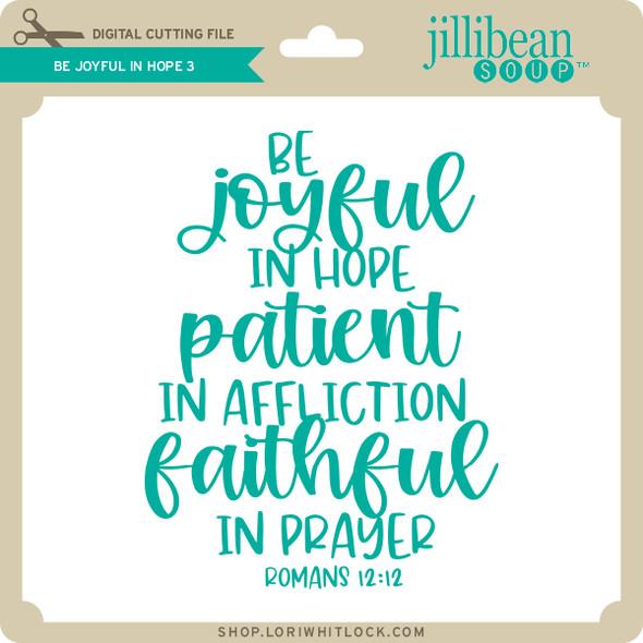 Be Joyful in Hope 3