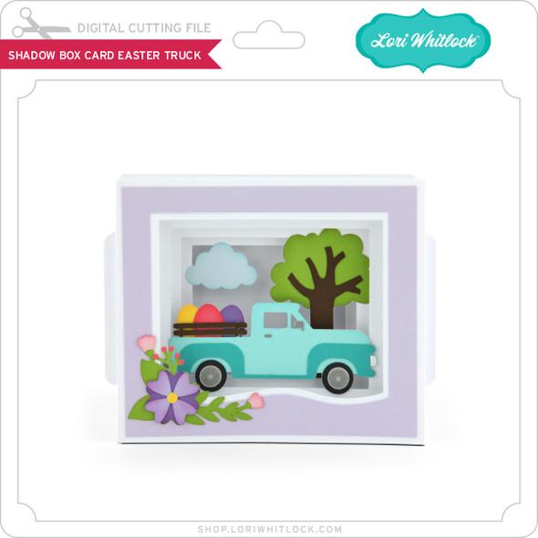 Shadow Box Card Easter Truck
