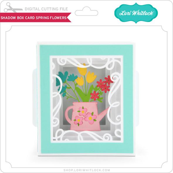 Shadow Box Card Spring Flowers
