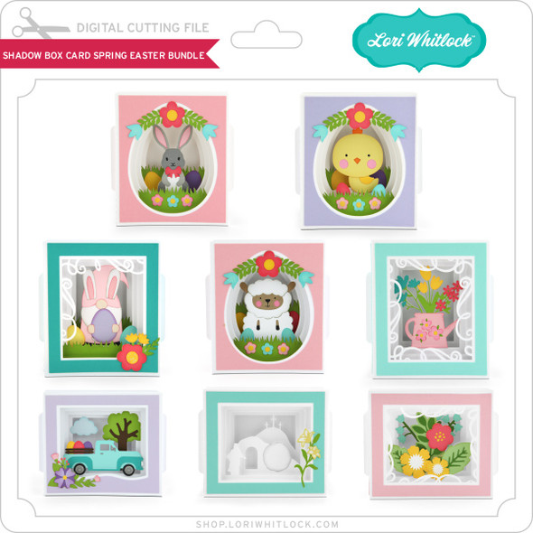 Shadow Box Card Spring Easter  Bundle