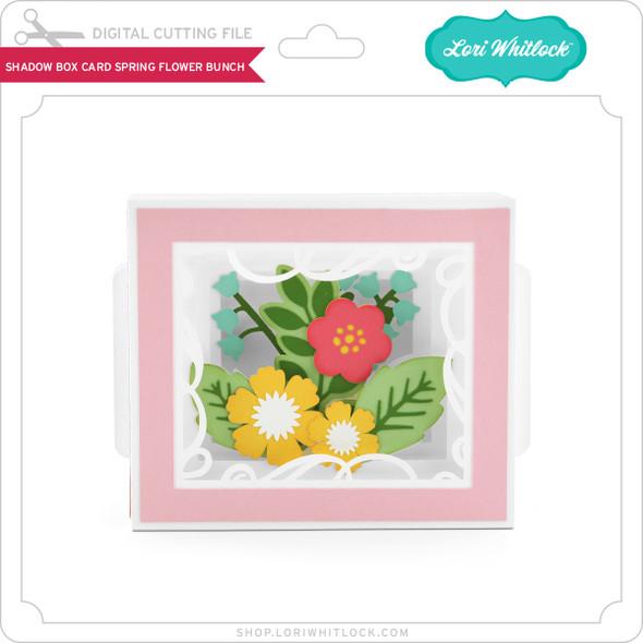 Shadow Box Card Spring Flower Bunch
