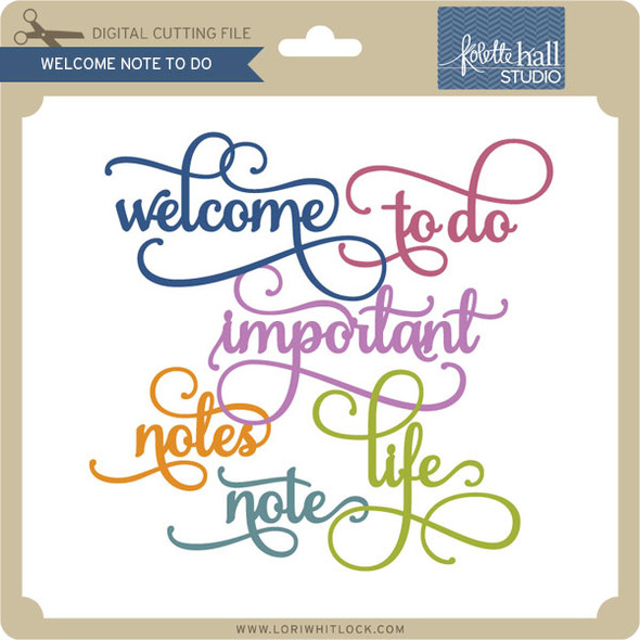 Welcome Note To Do