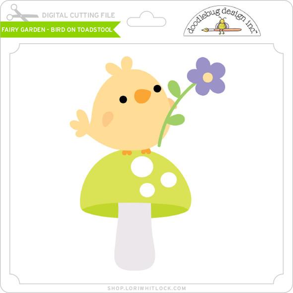 Fairy Garden - Bird on Toadstool