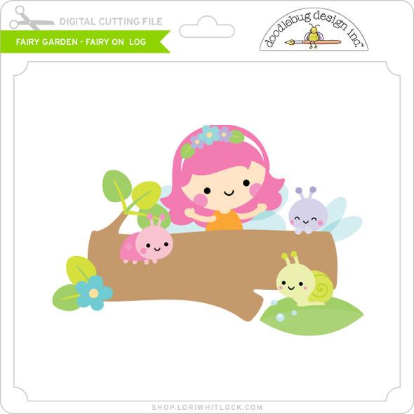 Fairy Garden - Fairy on Log