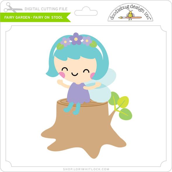 Fairy Garden - Fairy on Stool