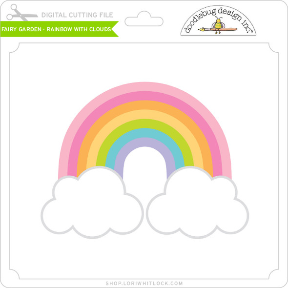 Fairy Garden - Rainbow with Clouds