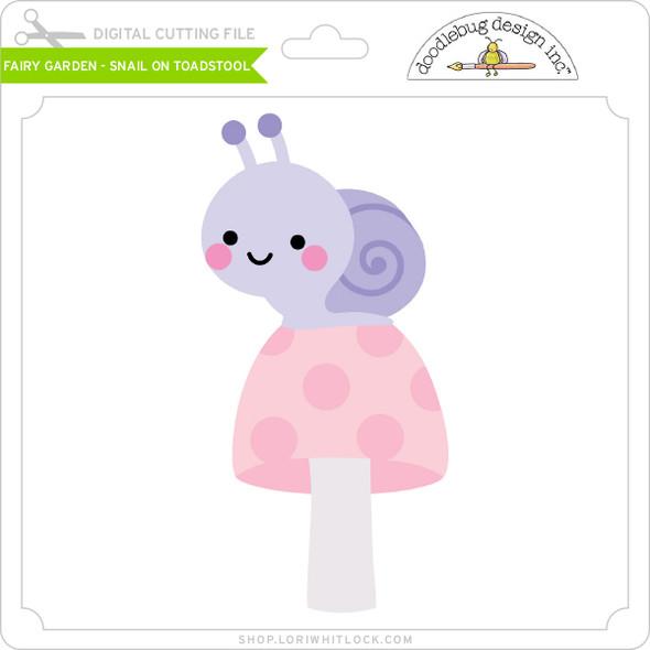 Fairy Garden - Snail on Toadstool