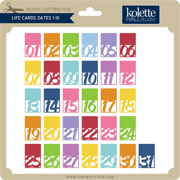 Life Cards Dates 1-31