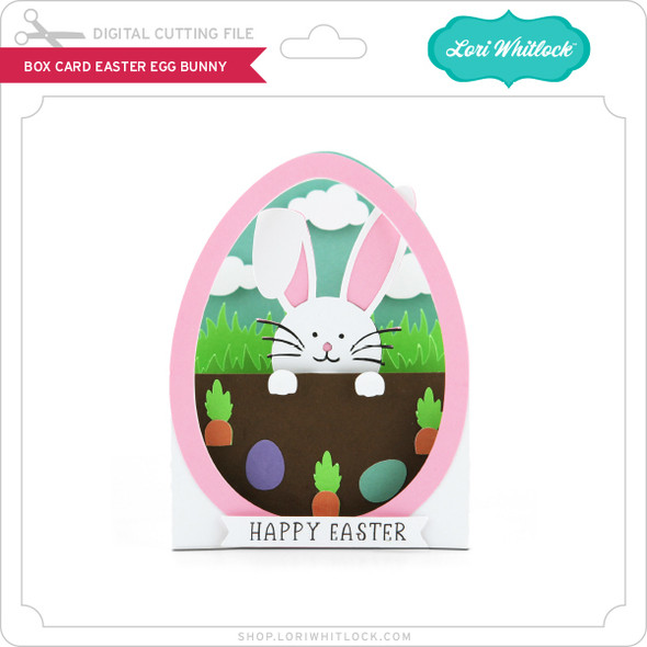 Box Card Easter Egg Bunny