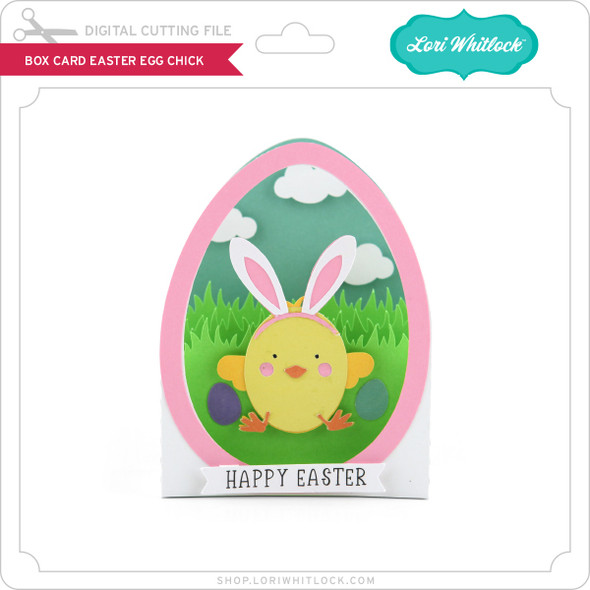 Box Card Easter Egg Chick
