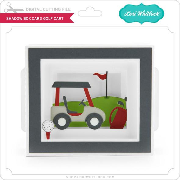 Shadow Box Card Golf Cart