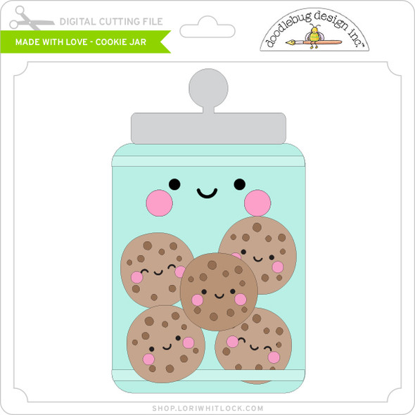 Made with Love - Cookie Jar