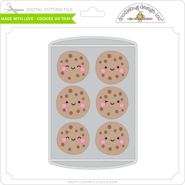 Made with Love - Cookies on Tray