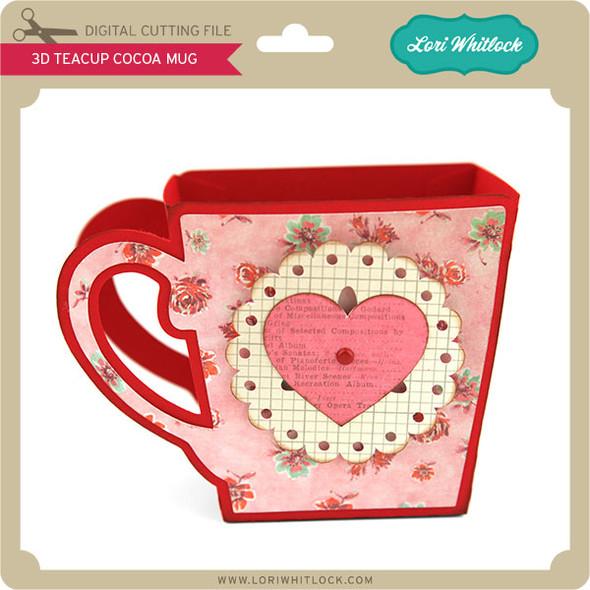 3D Teacup Cocoa Mug