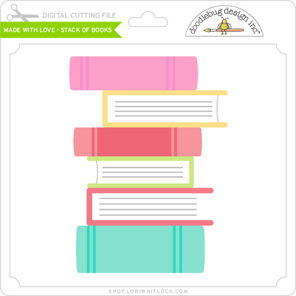 Made with Love - Stack of Books