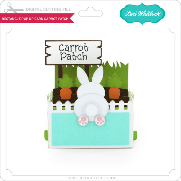 Rectangle Pop Up Card Carrot Patch