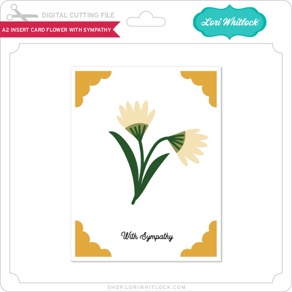 A2 Insert Card Flower With Sympathy