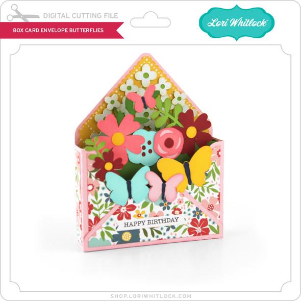 Box Card Envelope Butterflies