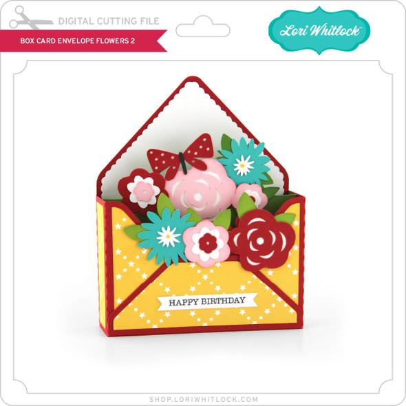 Box Card Envelope Flowers 2