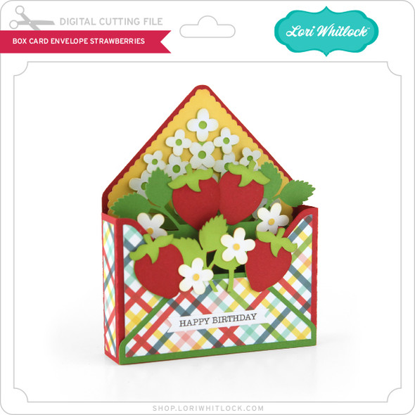 Box Card Envelope Strawberries