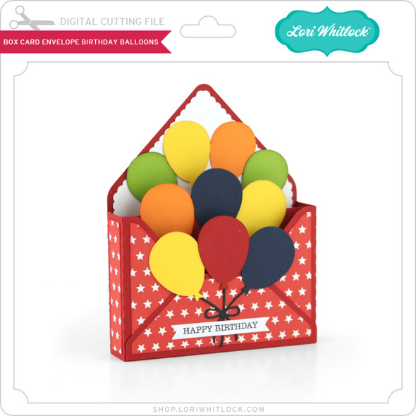 Box Card Envelope Birthday Balloons