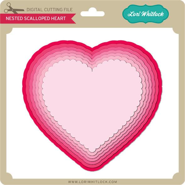 Nested Scalloped Heart