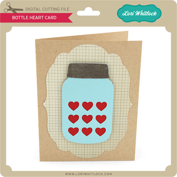 Bottle Heart Card