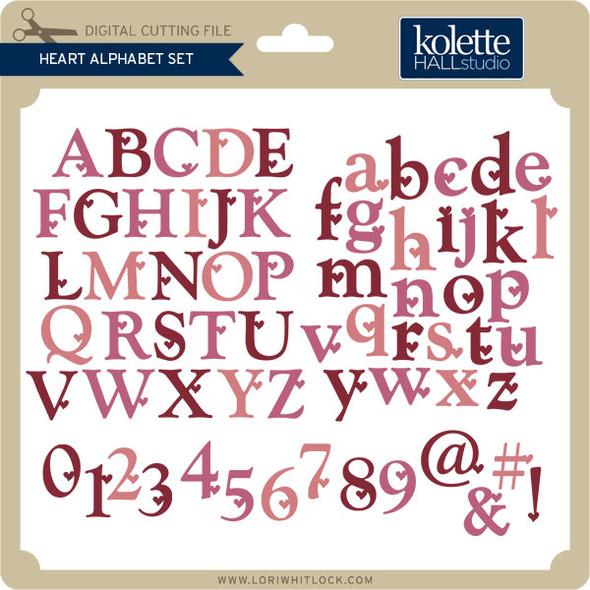 Heart Alphabet Set